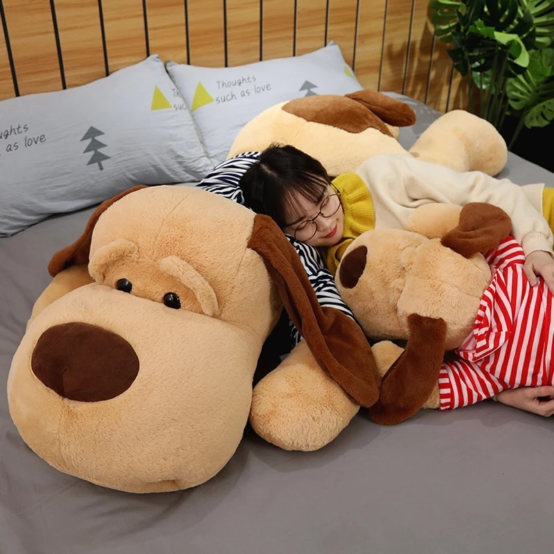 70/90/130 см Плюшевые игрушки Большой спальный собака плюшевый щенок собака мягкая игрушка в виде животного