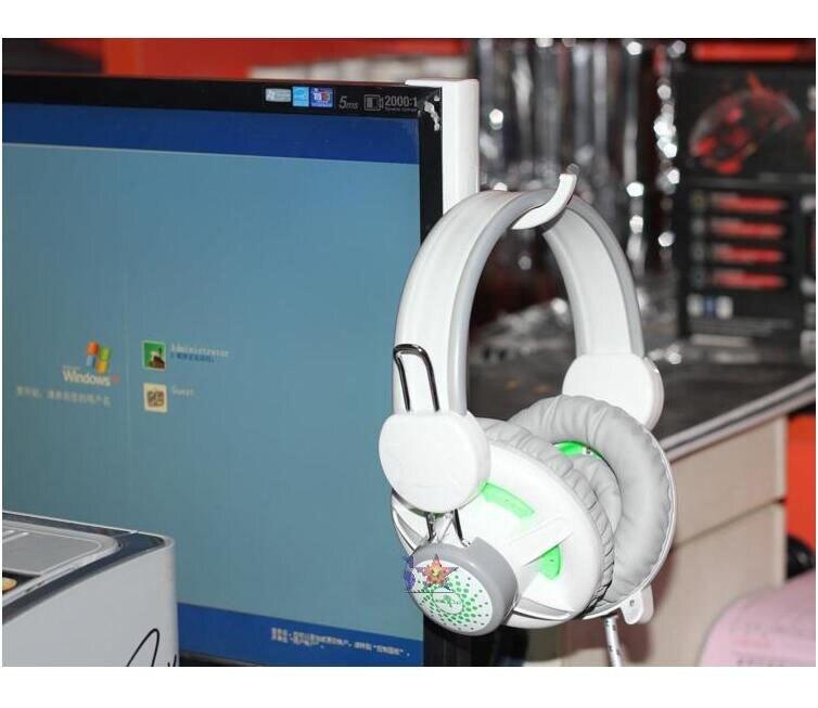 2 colores auriculares soporte Universal gancho para auriculares gancho de pared Monitor de ordenador soporte de auriculares estante de soporte