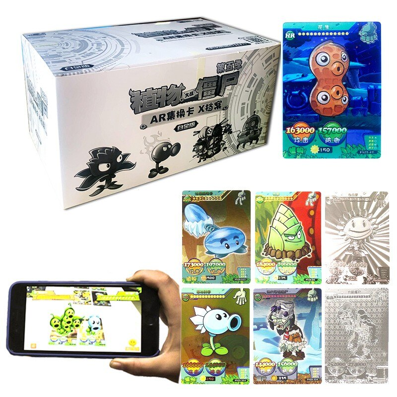 New 192pcs Plants Vs Zombies Big Wave Beach Cards Plants Zombies Figures Collect Card Pea Shooter Sunflower Trading Card Kid Toy boys toy plants vs zombies hand dolls 3 years old doll pea shooter pepper cannibal flower toy birthday and christmas gifts