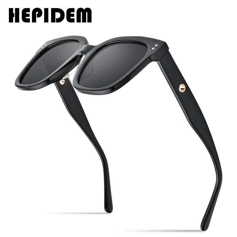 HEPIDEM-نظارات شمسية عتيقة للرجال والنساء ، نظارات شمسية كلاسيكية للرجال ، عدسات مسطحة كبيرة الحجم ، مربعة ، تصميم علامة تجارية ، gm KUKU ، 2020