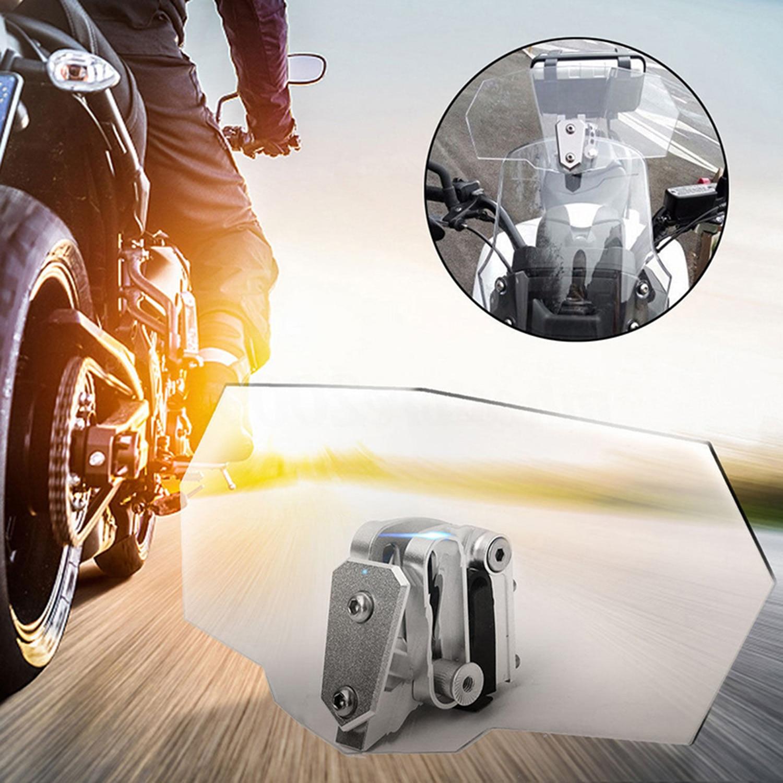 1 Clip frontal Universal para motocicleta, pantalla de viento, Deflector, extensión de alerón, accesorio transparente impermeable