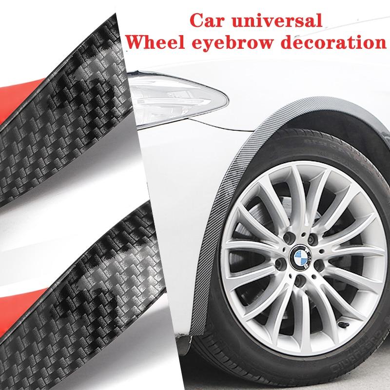 Car Universal Wheel Eyebrow Auto Mudguard Fender Wheel Lip Body Kit Protector Cover Mud Guard 1.5 meters long