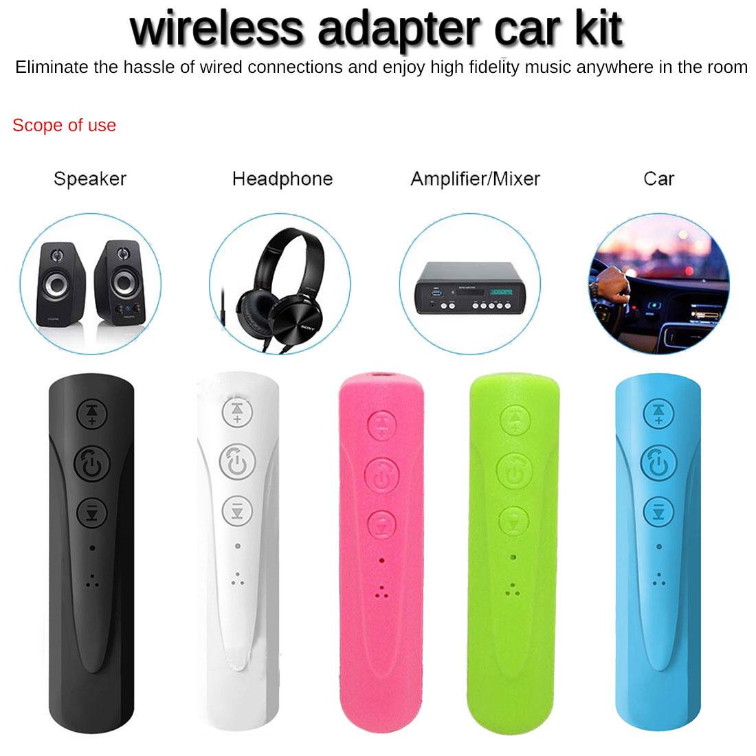 Автомобильный Bluetooth-приемник совместимый с разъемом 3,5 мм Aux Bluetooth беспроводной адаптер громкой связи для звонков музыкальный аудио передат...