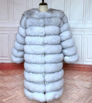جديد الطبيعية ريال فوكس الفراء معطف الشتاء النساء نمط طويل حقيقي حقيقي الفراء سترة الإناث Quali-1ty 100% ريال فوكس الفراء معاطف-jaon