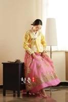 royal modern hanbok dress korean tradtional hanbok bride wedding party dress