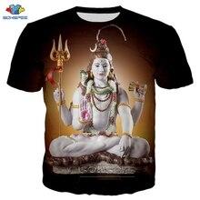 SONSPEE Men 힌두교 신 Lord Shiva 티셔츠 3D 프린트 애니메이션 힙합 티 패션 Lord Shiva T 셔츠 하라주쿠 반소매 여름 탑