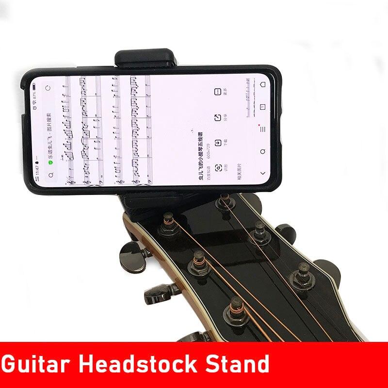 Pinza de teléfono móvil de guitarra de 360 grados soporte para escritorio cabezal de guitarra soporte música en vivo
