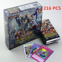 Yugioh 216 Pcs Set with Box Yu Gi Oh Anime Game Collection Cards Kids Boys Toys for Children Christm