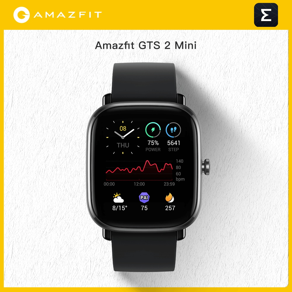 Мини Смарт-часы Amazfit GTS 2 с GPS, AMOLED дисплей, 70 спортивных режимов, мониторинг сна, умные часы для Android и iOS, глобальная версия
