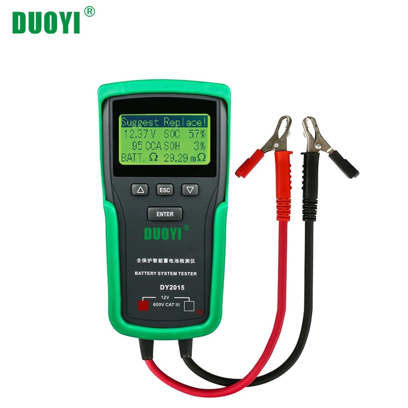 DUOYI DY2015 12V Car Battery System Tester Capacity Maximum Electronic load Battery Cranking Charge Test Digital Diagnostic Tool duoyi dy2015 12v car battery system tester capacity maximum electronic load battery cranking charge test digital diagnostic tool