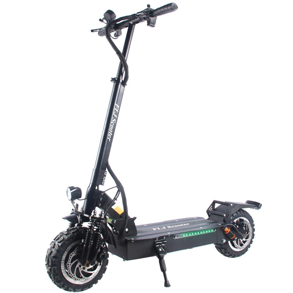 FLJ-patinete eléctrico T113 para adultos, Scooter con Motor dual, 60V/3200W