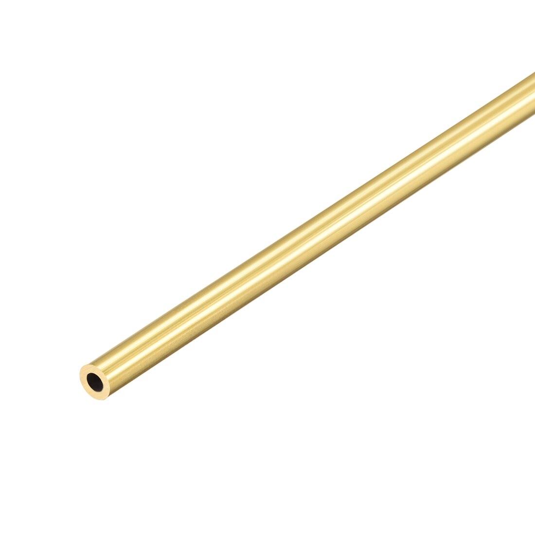 Tubo redondo de latón uxcell 300mm de longitud 1mm de espesor de pared tubo recto sin costura 4,5mm OD 1 Uds