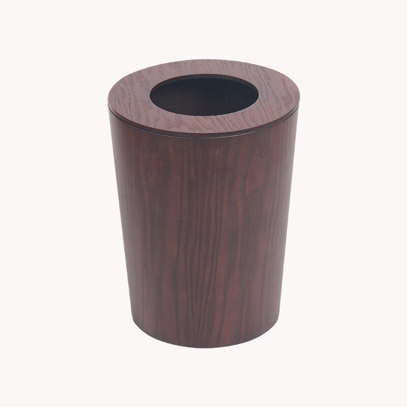 Nordic Recycle Trash Can Garbage Waste Paper Bin Japanese Indoor Household Creative Wood Dustbin Poubelle De Cuisine Compost Bin enlarge