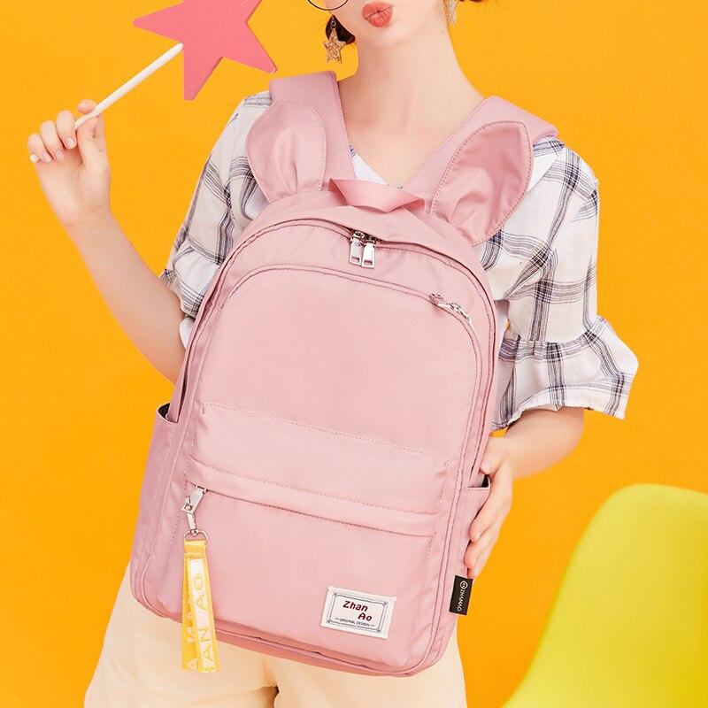 Милый женский рюкзак, Модный водонепроницаемый нейлоновый рюкзак для девочек, школьная сумка, студенческий рюкзак для книг, большой рюкзак ...