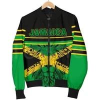 tessffel reggae art county flag africa jamaica king emblem lion 3dprint menwomen sportswear casual windbreaker bomber jacket a7