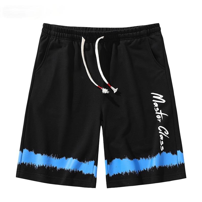 Шорты мужские спортивные свободного покроя, модные Джоггеры для фитнеса, повседневные пляжные Брендовые спортивные штаны, черные, лето 2021