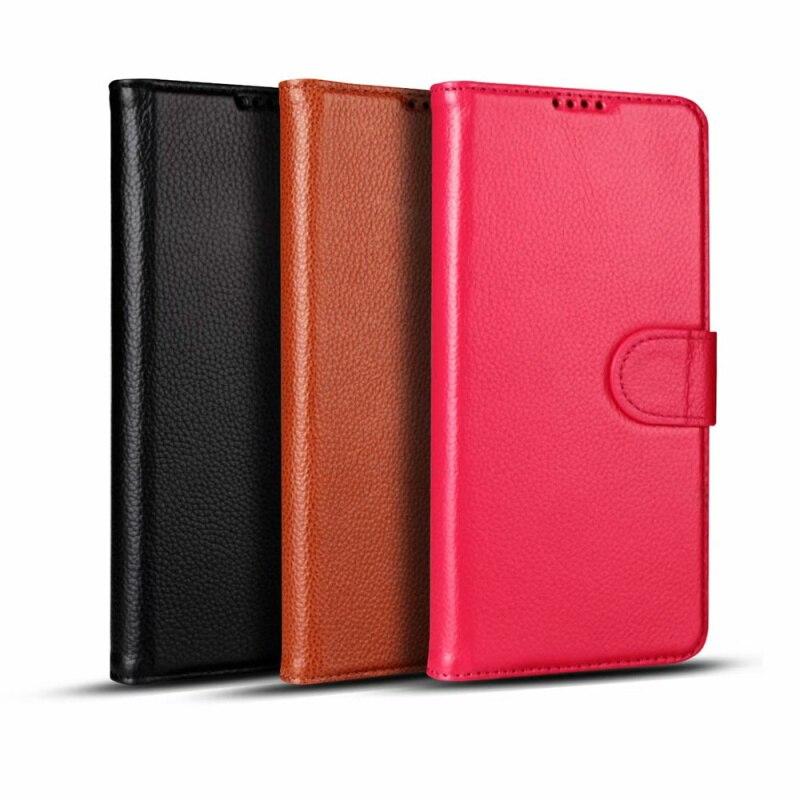CKHB S10Plus véritable étui de téléphone en cuir véritable pour galaxy S8 S9 S10 Plus note9 support de carte de téléphone portable
