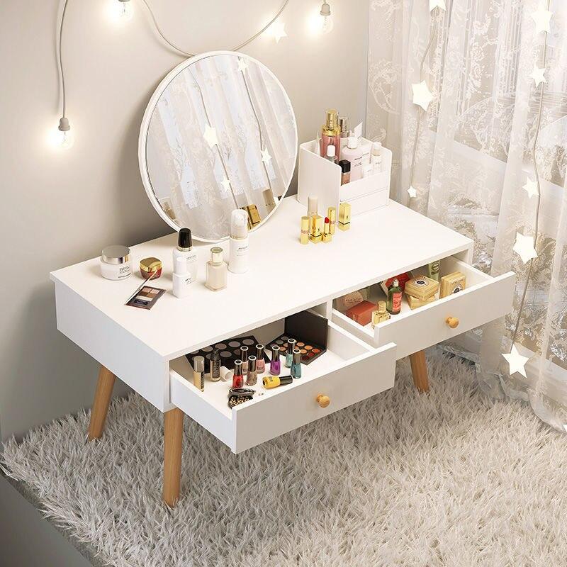 Туалетный столик, стая современная простота, туалетный столик с зеркалом, деревянный комод, мебель, комод