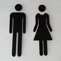 Autocollants de signe de toilette hommes et femmes Plaque dindicateur de forme W adhesif pratique et Durable pour salle de bains toilettes Restaurant decor