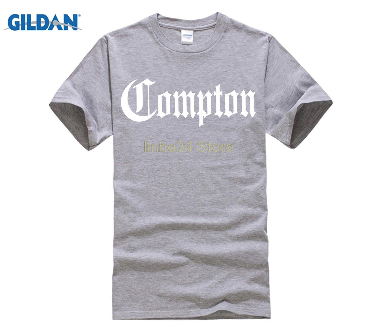 Compton California gótico Eazy E NWA el dr. Vintage ropa de cuello redondo Popular camiseta cuello redondo 100% camisetas de algodón
