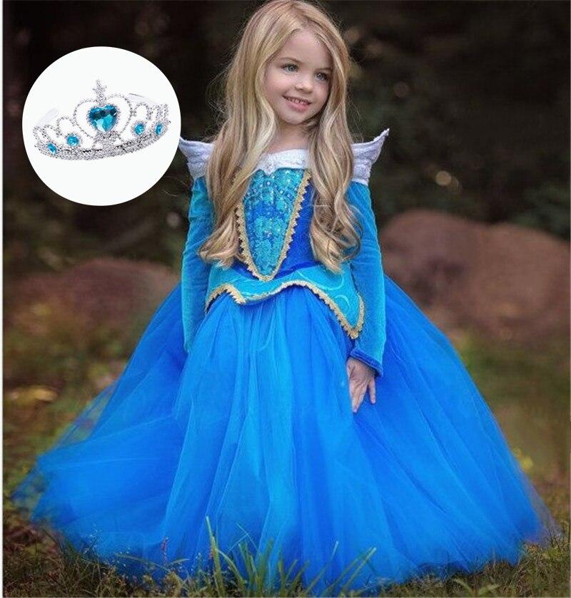 Ropa de bebé niñas Elsa de fiesta de boda largo Vestido de Anna, lentejuelas copo de nieve princesa Vestido de Tutu Infantil Vestido de ropa para los niños