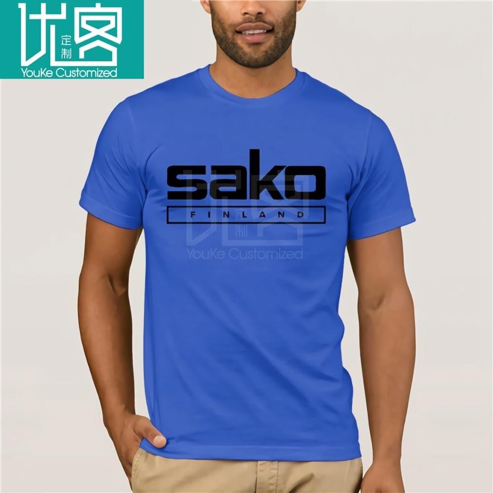 Camiseta con Logo de SAKO Finland Pistols Riffle Fireworks para hombre, camiseta informal de manga corta con cuello redondo