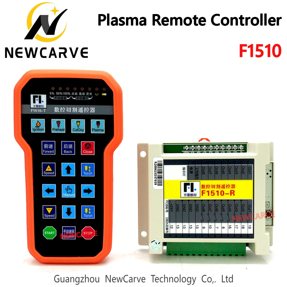 NEWCARVE-جهاز تحكم عن بعد بالبلازما F1510 ، جهاز تحكم عن بعد بمقبض لاسلكي ، مضاد للسقوط لـ CNC F2100B F2300A F2300B