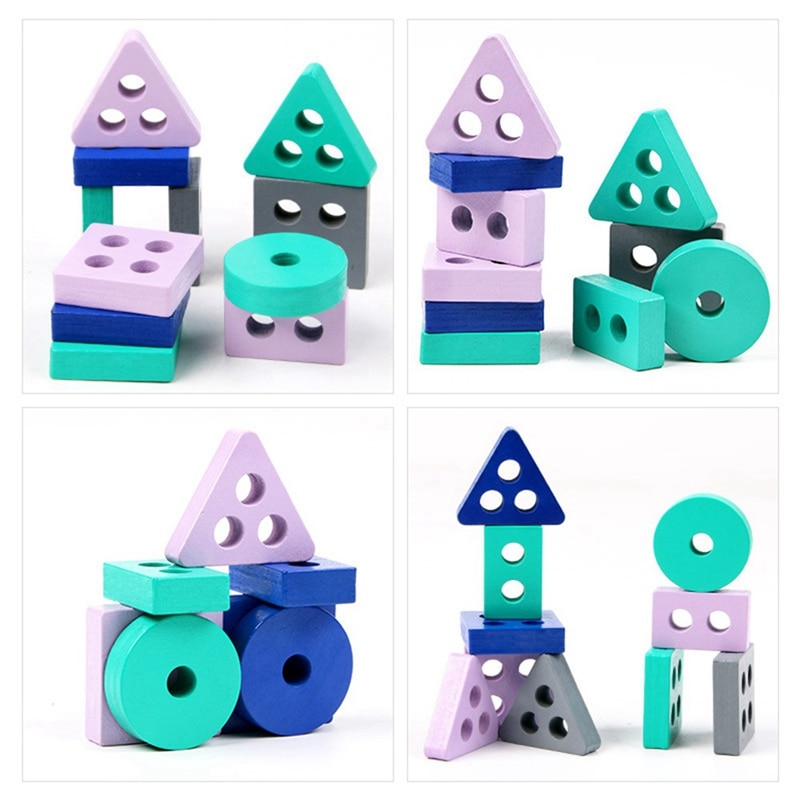 children s building blocks toys 1 3 years old baby shape matching wooden Intelligent Toys For Children Digital Cognition And Other Shape Matching Building Block Baby Wooden Puzzle Toys Baby Kids Gifts