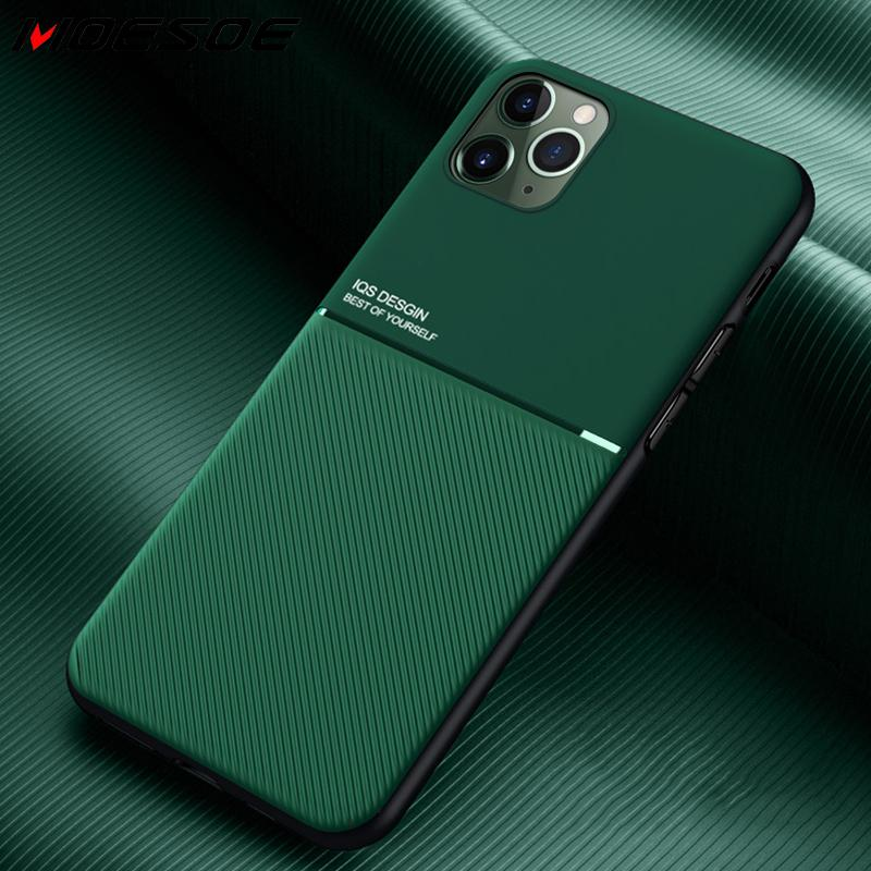 For iPhone 11 Pro Case Slim Leather Texture Slim Matte Protective Phone Cove Cases For iPhone XR X 1