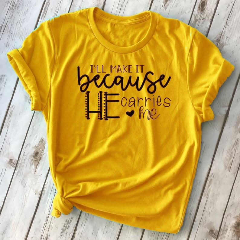 I will make because Me lleva camiseta cristiana fe espiritual mujeres religiosas moda grunge tumblr heart cita tee-K461