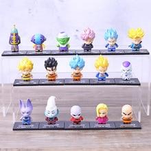 Anime 8 pièces/ensemble Dragon Ball Z Torankusu noir cheveux fils Goku Zamasu Frieza Piccolo Q Version PVC figurine jouet à collectionner