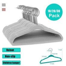 10/20/30 Pack Non-slip Velvet Kids Hangers For Jackets Pants & Dress Clothes Hangers For Clothes Elv