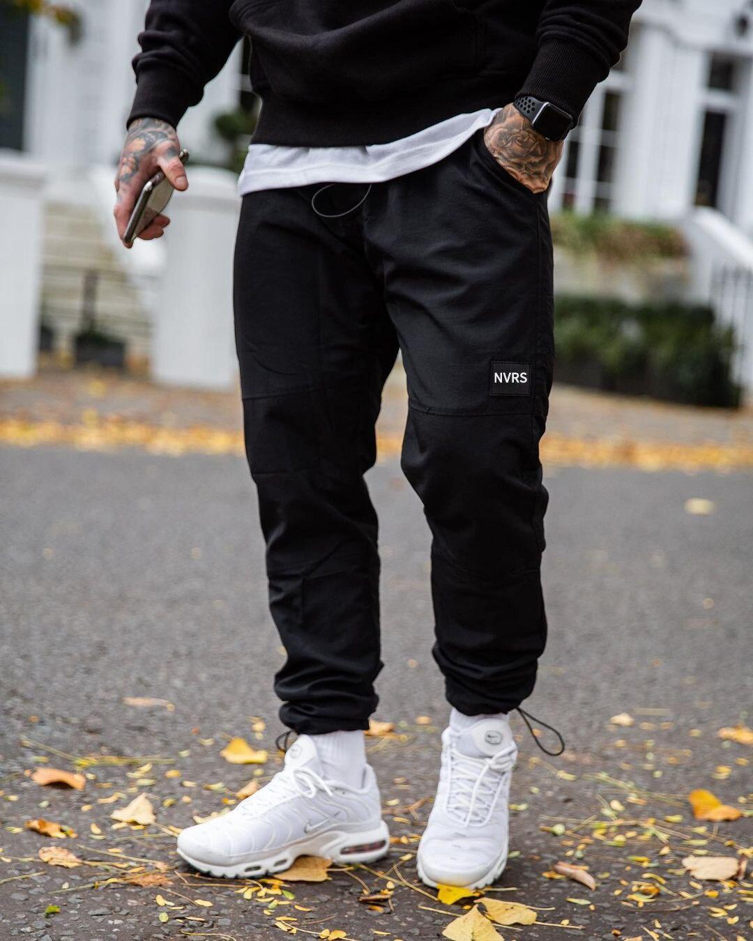 Брюки мужские однотонные с поясом на резинке, джоггеры, мешковатые брюки с заниженной талией, повседневные штаны, Прямая поставка, 2021