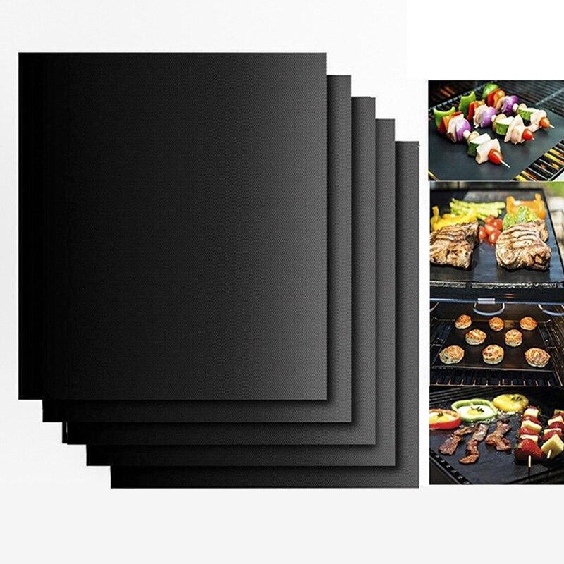 Barbacoa parrilla estera barbacoa al aire libre para hornear almohadilla antiadherente reutilizable teflón placa de cocina 40*30 cm herramientas de cocina de fácil limpieza