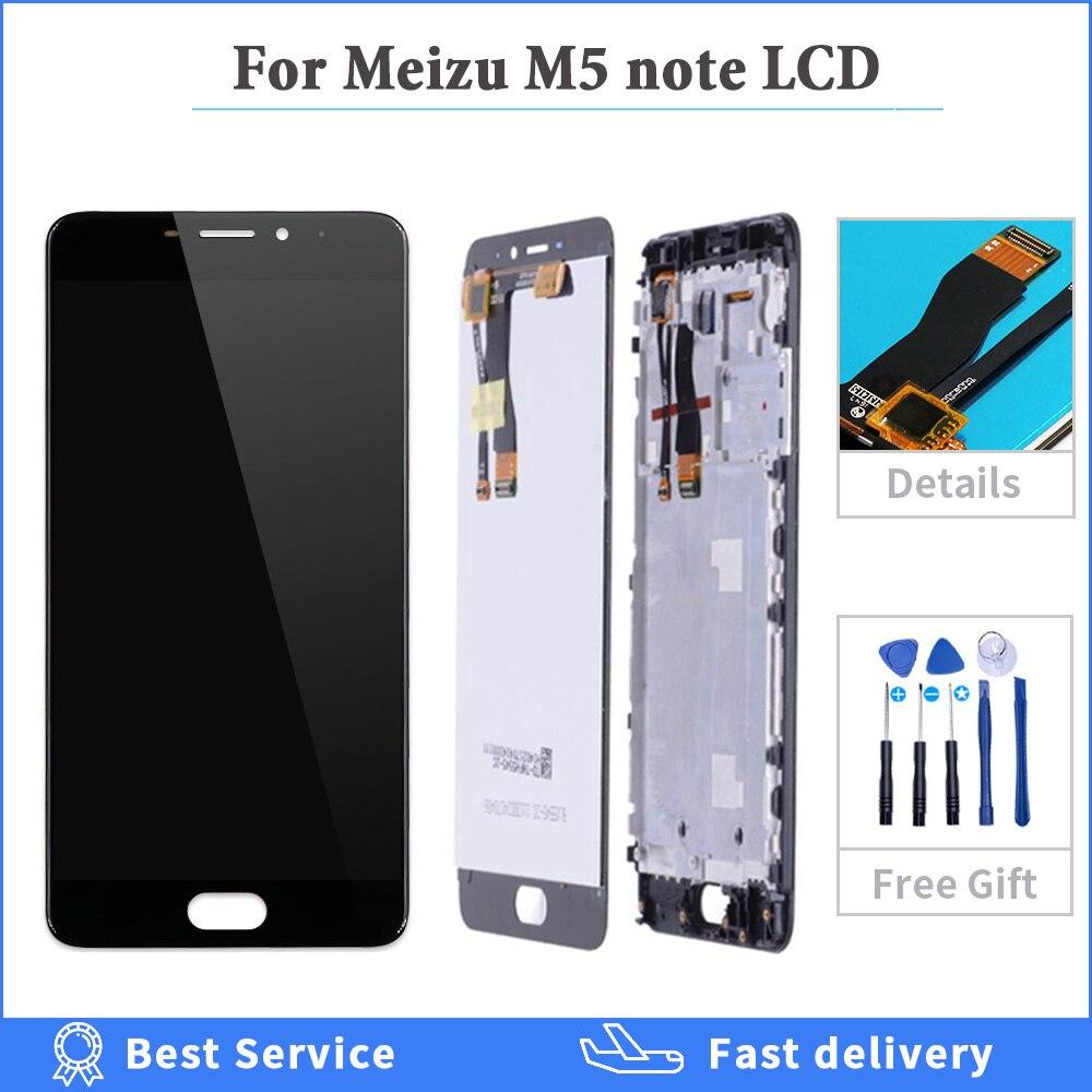 Para Meizu M5 Note LCD pantalla táctil digitalizador M621H M621Q M621M M621C para Meizu M5 Note LCD con marco reemplazo de la pantalla