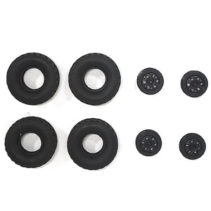 New Upgrade Rubber Track Tires Spare Parts with Wheel Rim,for MN90 MN91 WPL C14 C24 RC Car Truck Wheels