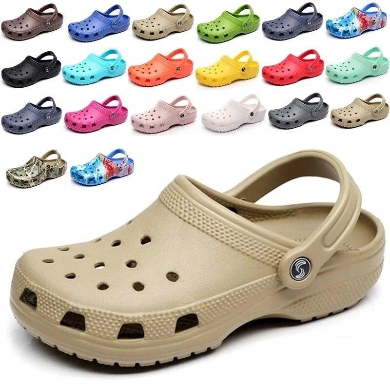 Summer Clogs Sandals Men/Women Casual Garden Clogs Waterproof Shoes Classic Nursing Clogs Hospital W