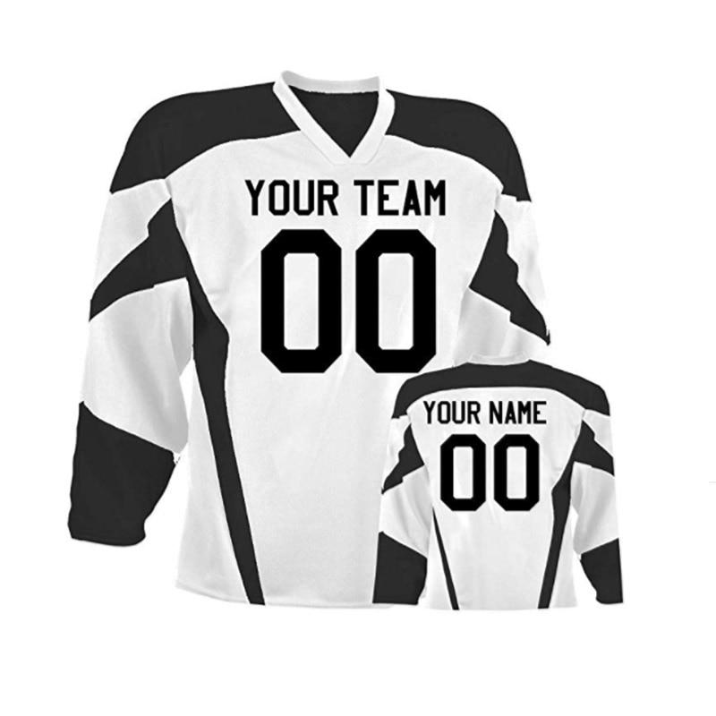 Envío Gratis sublimación, Hockey sobre hielo Jersey de manga larga suéter de invierno ropa para entrenamiento de carrera camisetas