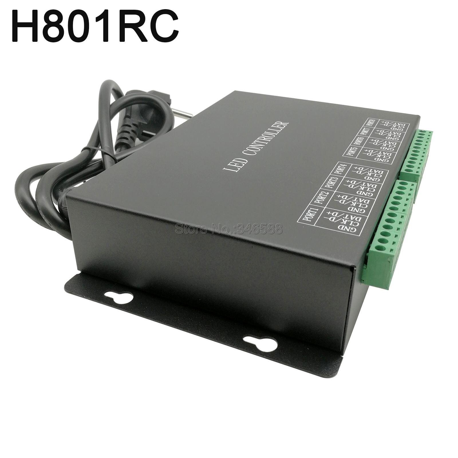 H801RC 8 портов Slave светодиодный пиксельный контроллер работает с компьютерной сетью или контроллер управления (H803TV или H803TC) привод 8192 пикселей