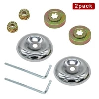 2021 trimmer brush cutterlawnmower blade adapter nut fixing kit universal lawnmower metal gearbox blade replacement accessories
