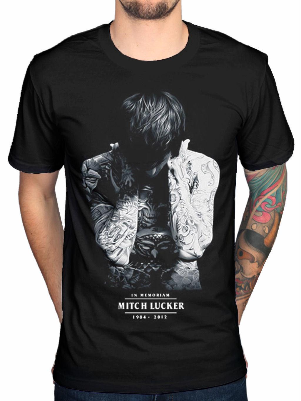 Mitch Lucker Memorial silencio suicida para Blackcottontop Tee camiseta