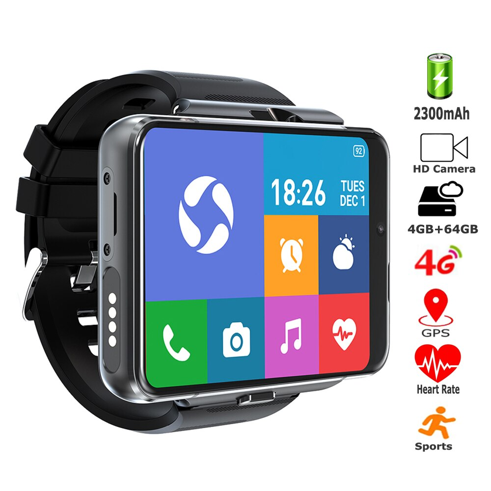 64GB ROM 4GB RAM Smart Watches 2.88'' Big Screen 2300mAh SIM Card GPS 1300W Camera Men Sports 4G Smartwatch For IOS Apple Watch