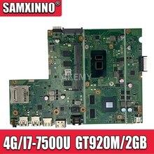 X541UJ MB._ 4G/I7-7500U/AS GT920M/2GB carte mère pour ordinateur portable For Asus X541U X541UJ X541UVK A541U carte mère 100% testé Ok