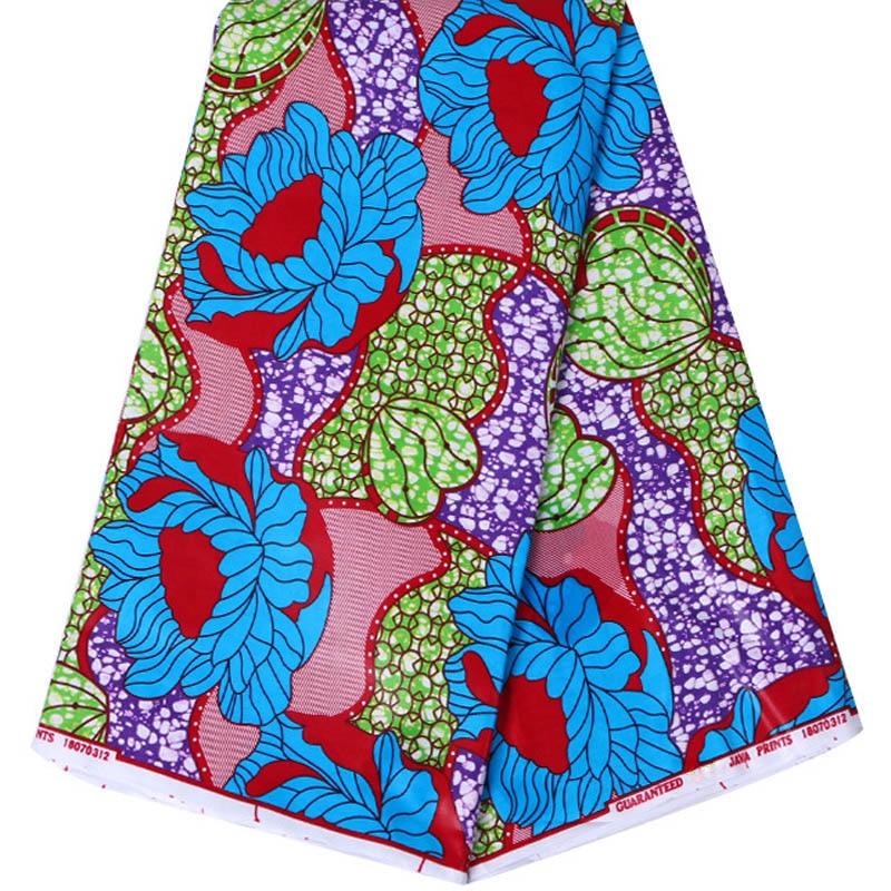 Telas de cera diy mejor tela de cera africana de cera de ghana tela de impresión de ankara tela africana de cera de boda Azul Rojo verde flores waxs