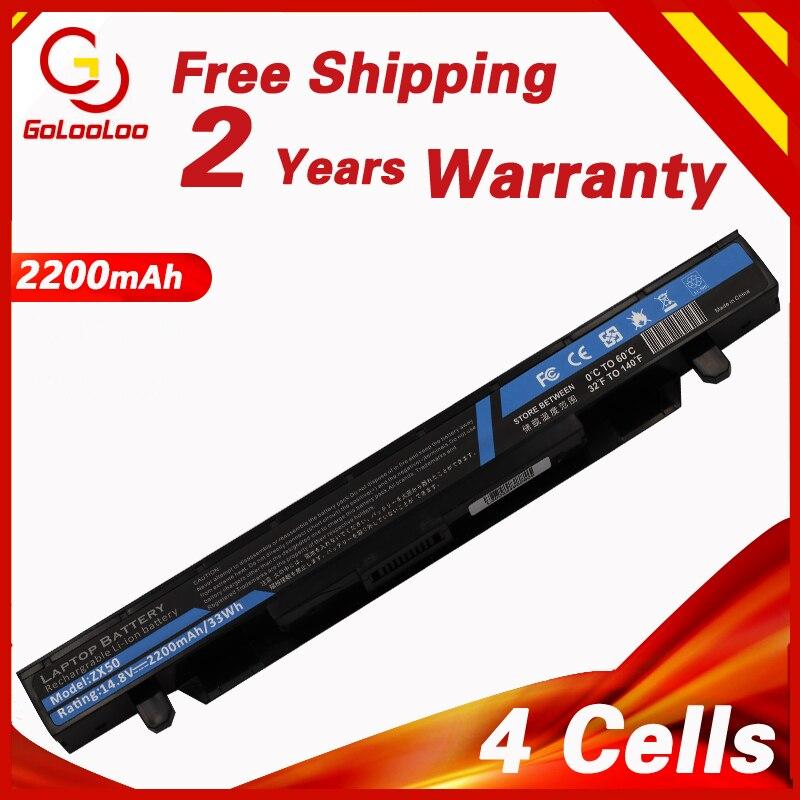 Golooloo 2200mAh 14.8V A41N1424 Laptop Battery for ASUS ROG ZX50 ZX50J ZX50JX GL552 GL552J GL552JX GL552V GL552VW FX-PLUS Series