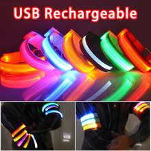 Спорт на открытом воздухе ночь Беговая наручная повязка светодиодный светильник USB Перезаряжаемые Безопасность ремень рука нога предупред...
