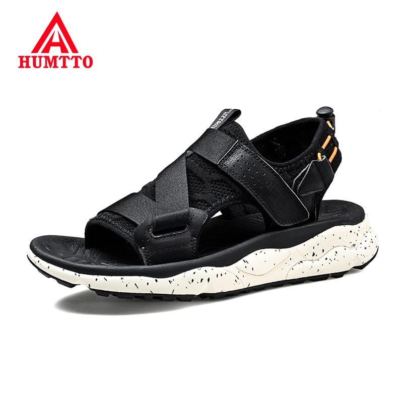 humtto summer men sandals 2021 breathable beach sandals for men's outdoor water mens hiking camping fishing climbing aqua shoes HUMTTO 2020 Summer New Outdoor Mens Sandals Breathable Non-slip Beach Shoes Light Soft Hook&Loop Sandals Men sneakers