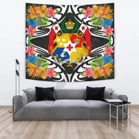 tonga tapestrys tropical flowers style 3d printed tapestrying rectangular home decor wall hanging