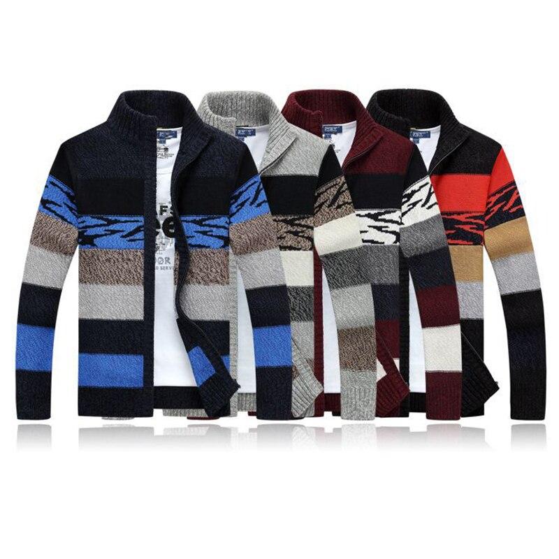 Высококачественный кардиган, свитер, мужские зимние шерстяные свитера с воротником-стойкой, модные кардиганы, мужские свитеры, пальто, брен...