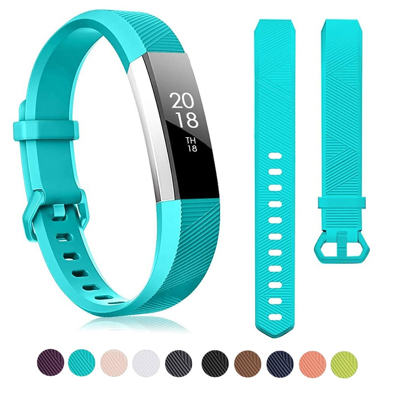 Correa de reloj de silicona para Fitbit Alta HR Correa de reloj Correa ajustable Fitness Tracker pulsera de repuesto 14 colores